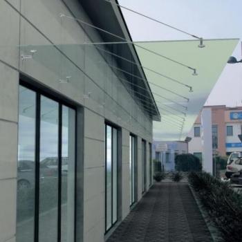 прозрачный стеклянный козырёк