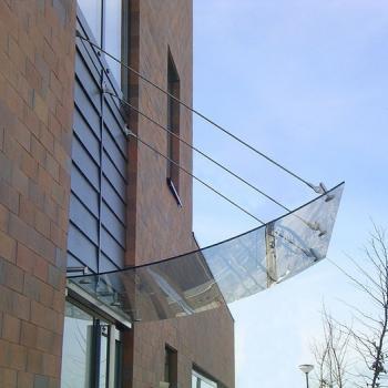 подвесной стеклянный козырек