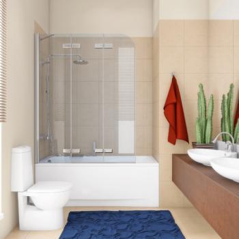Стекло для защиты ванной от брызг