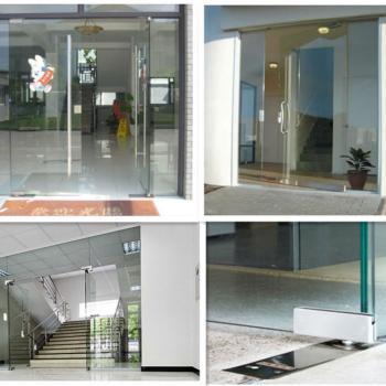 Входные стеклянные двери в торговый центр