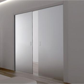 Матовые раздвижные стеклянные двери