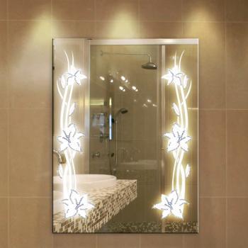 Зеркало с рисунком и подсветкой