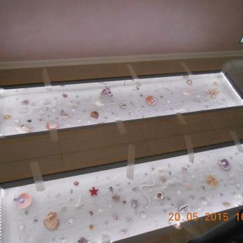 Стеклянный пол в коттедже