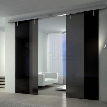 откатные межкомнатные стеклянные двери