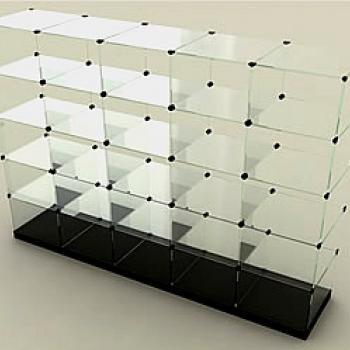 стеклянная витрина-куб