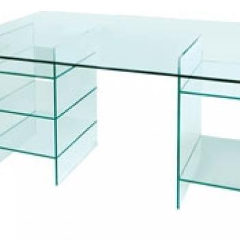 простой компьютерный стол из стекла