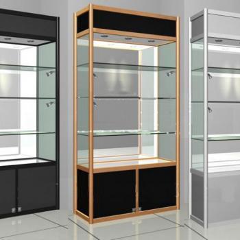 Стеклянные витрины с нижними ящиками