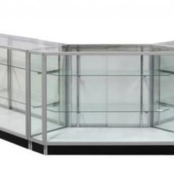 Стеклянная витрина-прилавок