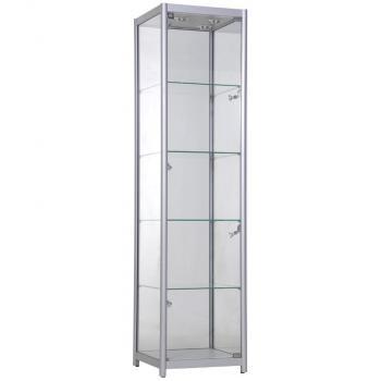 Односекционная стеклянная витрина шкаф