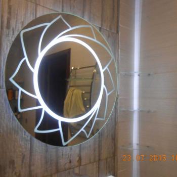 Круглое зеркало с подстветкой