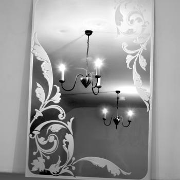 напольное зеркало с гравировкой