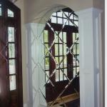 зеркало с гравировкой в форме арки