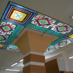Витраж на потолке с подсветкой
